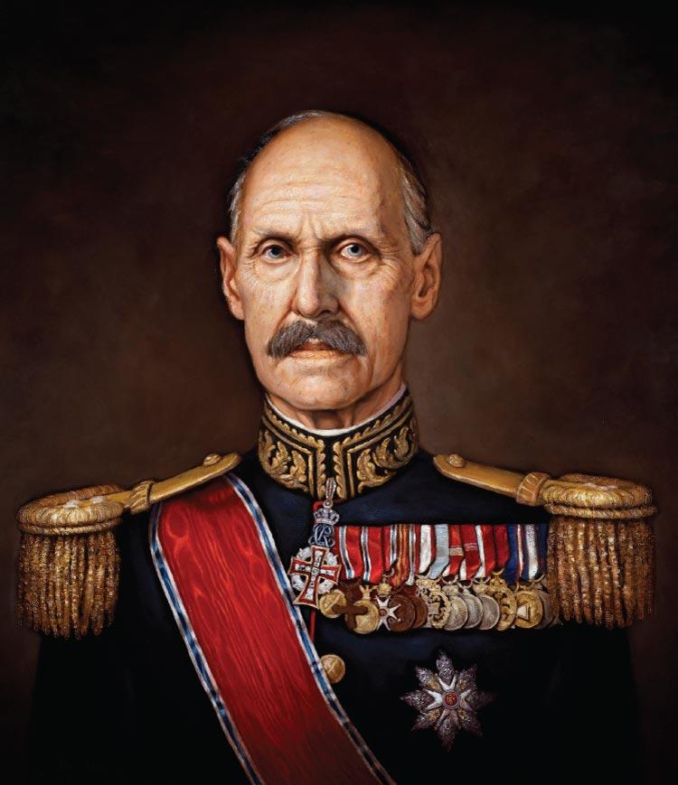 Kong Haakon VII, malt av Ross Kolby