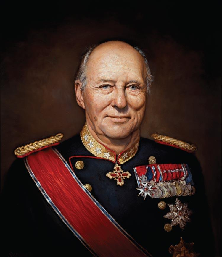 H. M. Kong Harald V, malt av Ross Kolby