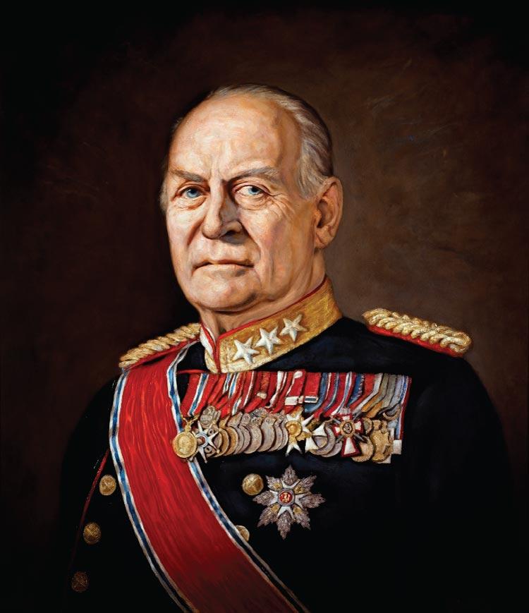 Kong Olav V, malt av Ross Kolby