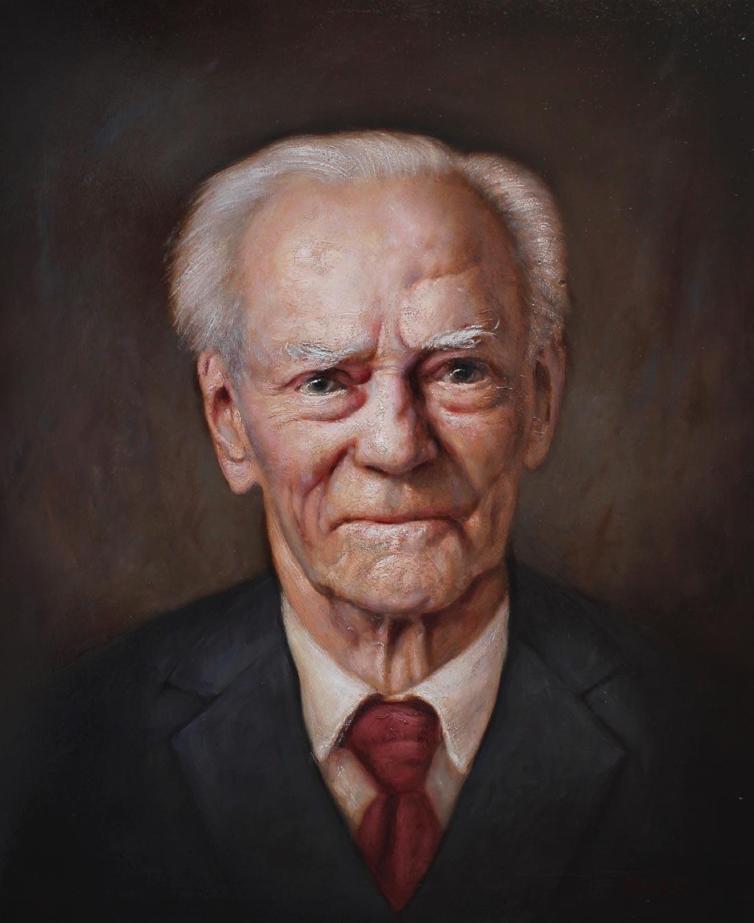 Wilhelm Mohr, malt av Ross Kolby