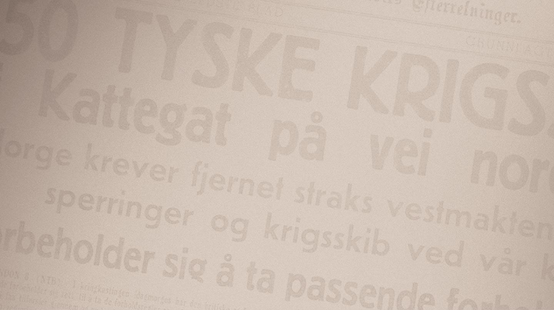Bergens Tidende 8. april 1940